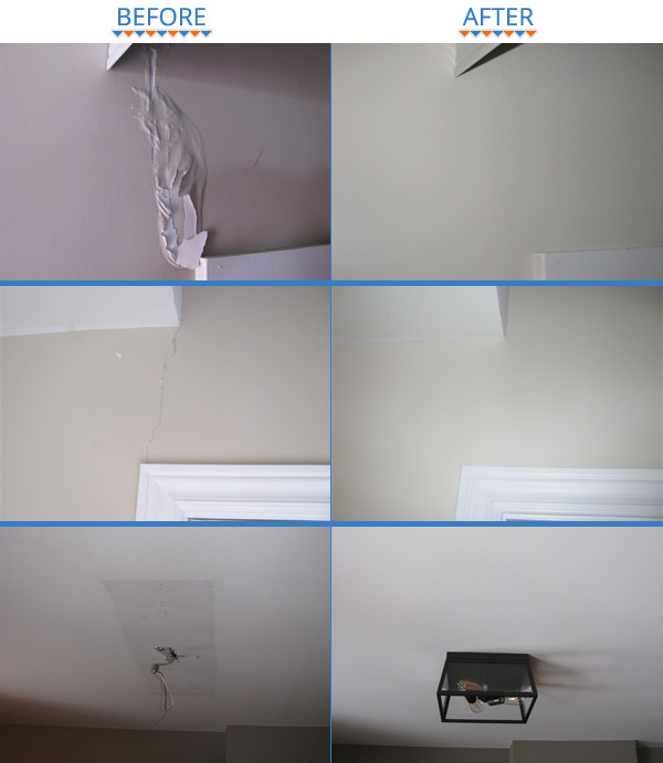 Ottawa House Painters Drywall Damage Fixes Before and After