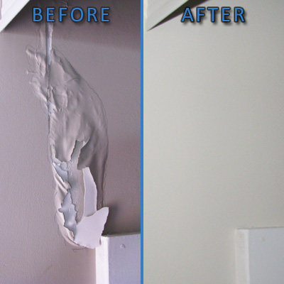 Ottawa House Painting Drywall Damage Fixes Before and After
