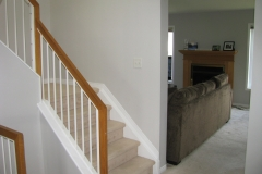Barrhaven Stairs Family Room Painted