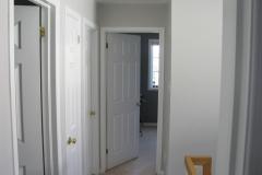 Barrhaven hallway bedroom painted
